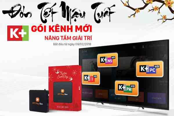 Gói kênh K+ trên FPT Play Box